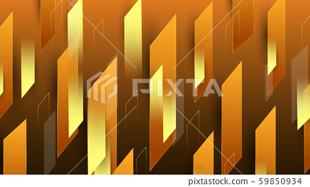 Abstract colorful orange gold geometrical background 59850934