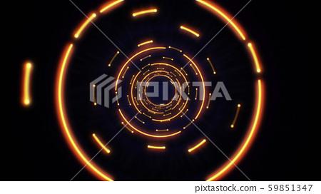 Orange abstract light circles seamless looping 59851347