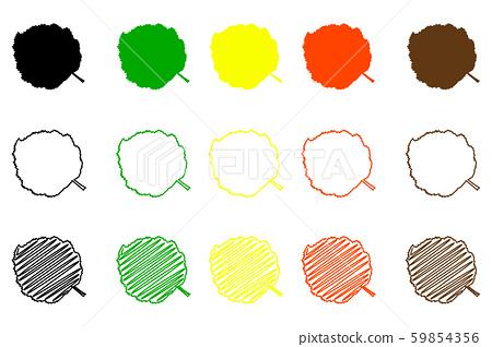 Hazel leaf color set 59854356