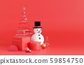 Merry Christmas background. 3D rendering. 59854750
