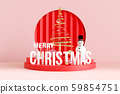 Merry Christmas background. 3D rendering. 59854751