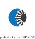 Train tracks vector icon design template 59857659