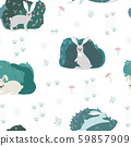 Seamless pattern with rabbit, hare 59857909