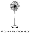 Realistic sketch. Electric fan 59857966