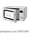 Microwave oven isolated on white background. 59857969