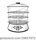 Realistic double boiler 59857972