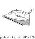 Sketch iron on a white background. Vector 59857978
