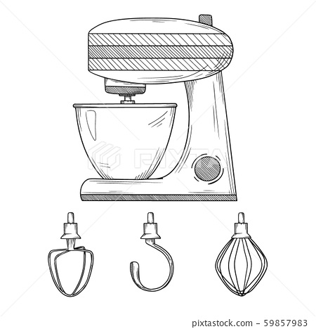 Food processor with different nozzles 59857983