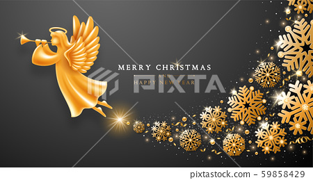 Christmas And New Year Greeting Card Template With 59858429