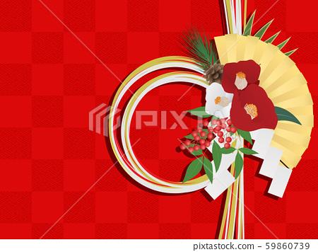 新年的圖像素材(水木裝飾) 59860739