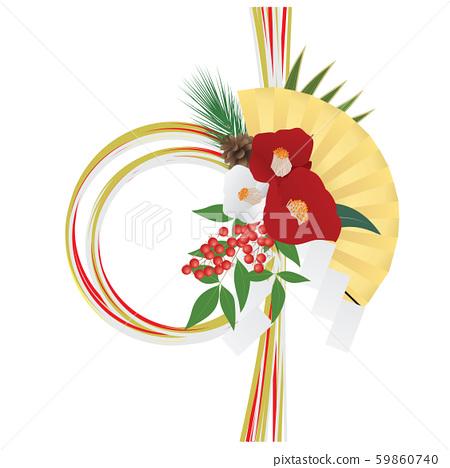 新年的圖像素材(水木裝飾) 59860740