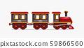 colorful cartoon train on white 59866560