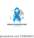 World diabetes day vector image design 59866863