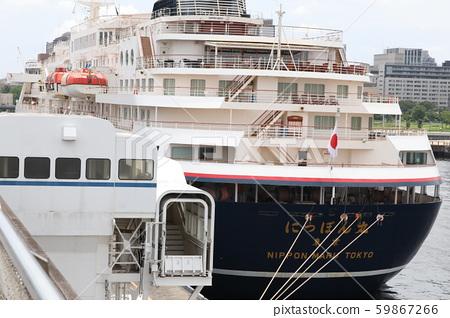 Nippon Maru anchored at Osanbashi 59867266