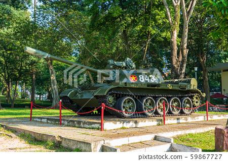 越南胡志明市統一宮前的坦克 59867727