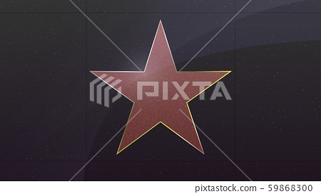 Hollywood star. Symbol of movie actor or famous 59868300