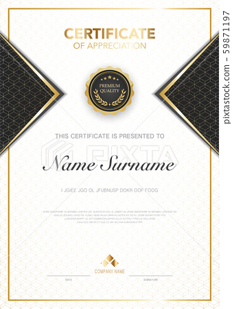 diploma certificate template black and gold color with luxury and modern style vector image. 59871197