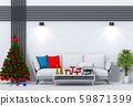 Christmas interior living room. 3d render 59871399