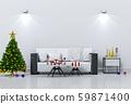 Christmas interior living room. 3d render 59871400