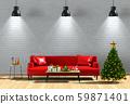 Christmas interior living room. 3d render 59871401