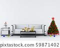 Christmas interior living room. 3d render 59871402