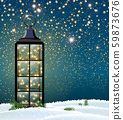 Christmas lantern with LED string with stars on 59873676