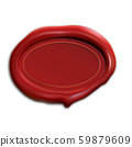 Wax stamp. Vector red seal mockup illustration 59879609