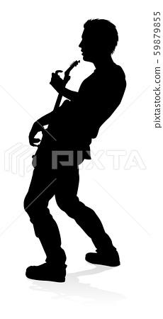 Musician Guitarist Silhouette 59879855