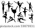 Ballet Dancer Dancing Silhouettes 59879931
