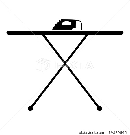 Ironing board with iron icon black color vector 59880646