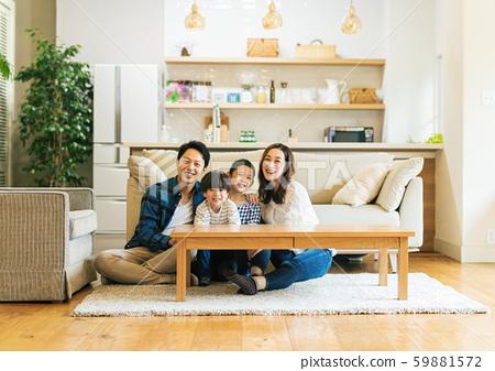家庭,父母和子女,家 59881572