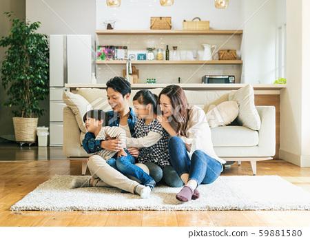家庭,父母和子女,家 59881580
