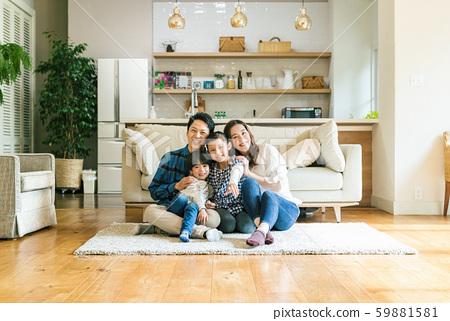 家庭,父母和子女,家 59881581