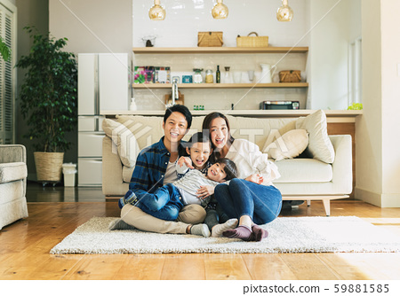 家庭,父母和子女,家 59881585