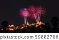 Beautiful colorful fireworks festival. 59882706