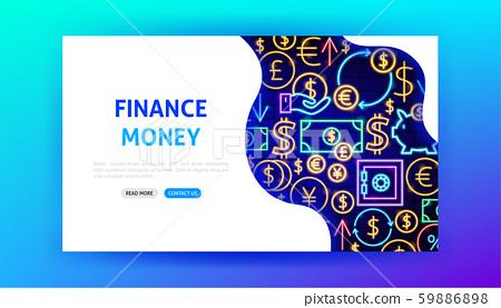Finance Neon Landing Page 59886898