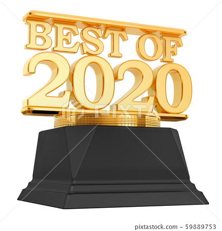Golden Award, best of 2020 concept. 3D rendering 59889753