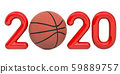 Basketball 2020 with basketball ball, concept 59889757