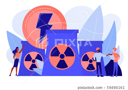 Nuclear energy concept vector illustration. 59898161