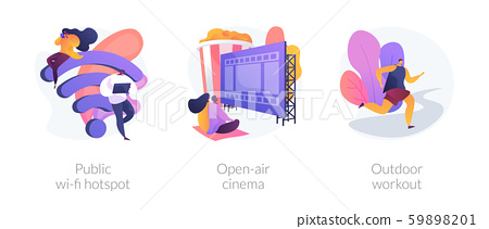 Outdoor activities vector concept metaphors. 59898201