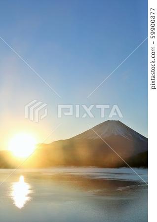 日本的黎明富士山和太陽 59900877