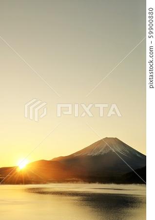 日本的黎明富士山和太陽 59900880