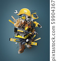 Construction tools and instruments, a concept on the theme of tools 59904367