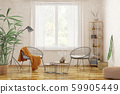 Interior design of modern living room with two 59905449
