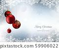 Christmas Greeting with Snowflakes and Xmas Balls 59906022