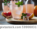 Cocktail with grapefruit and mint 59906031