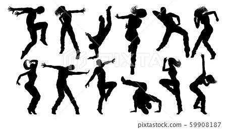 Street Dance Dancer Silhouettes 59908187