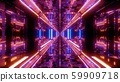 technical futuristic glass tunnel corriidor with metal bricks texture 3d illustration wallpaper 59909718