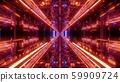 technical futuristic glass tunnel corriidor with metal bricks texture 3d illustration wallpaper 59909724