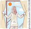 曬太陽的女人 59913638